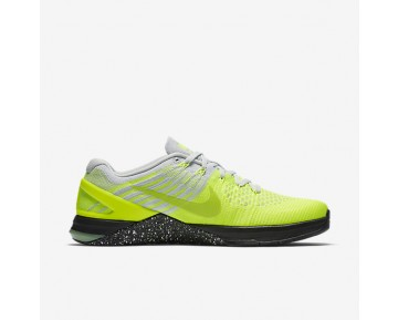 Nike Metcon DSX Flyknit Mens Shoes Volt/Pure Platinum/Black/Ghost Green Style: 852930-701
