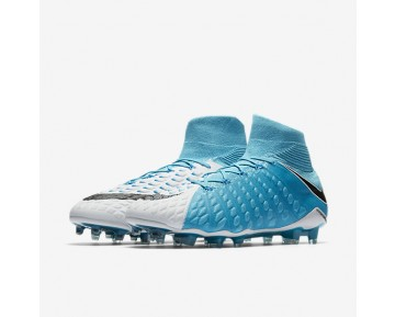 Nike Hypervenom Phantom 3 DF FG Mens Shoes Photo Blue/White/Chlorine Blue/Black Style: 860643-104