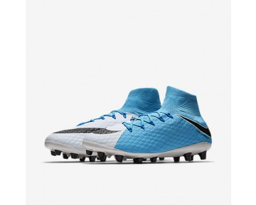 Nike Hypervenom Phatal 3 DF AG-PRO Mens Shoes White/Photo Blue/Chlorine Blue/Black Style: 860644-104