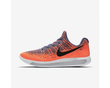 Nike LunarEpic Low Flyknit 2 Mens Shoes Blue Moon/Hyper Orange/Work Blue/Black Style: 863779-403