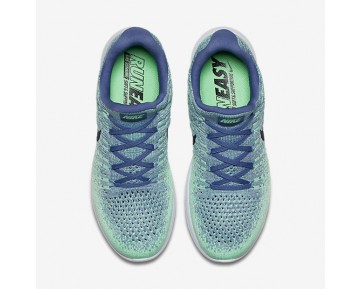 Nike LunarEpic Low Flyknit 2 Womens Shoes Blue Moon/Vapour Green/Green Glow/Dark Obsidian Style: 863780-403