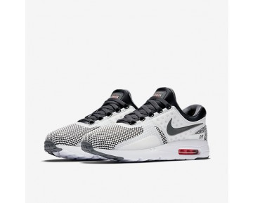 Nike Air Max Zero Essential Mens Shoes Dark Grey/Summit White/Bright Crimson/Dark Grey Style: 876070-008