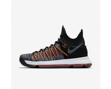 Nike Zoom KD 9 Elite Mens Shoes Black/Dark Grey/Hyper Orange/White Style: 878637-010
