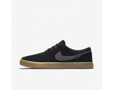 Nike SB Solarsoft Portmore II Mens Shoes Black/Gum Light Brown/Dark Grey Style: 880266-009