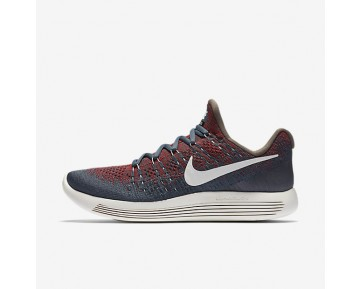 NikeLab Gyakusou LunarEpic Low Flyknit 2 Mens Shoes Blue Fox/University Red/Black/Sail Style: 880283-400