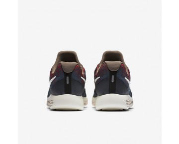 NikeLab Gyakusou LunarEpic Low Flyknit 2 Womens Shoes Blue Fox/University Red/Black/Sail Style: 880287-400