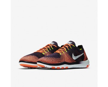 Nike Free Focus Flyknit 2 Womens Shoes Grand Purple/Bright Mango/Volt/White Style: 880630-501