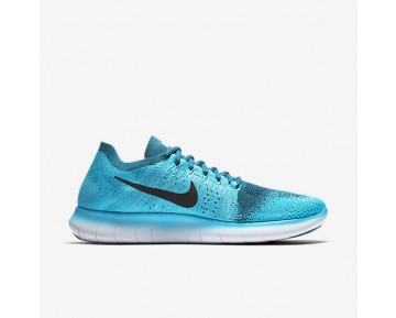 Nike Free RN Flyknit 2017 Mens Shoes Blue Lagoon/Legend Blue/Polarised Blue/Pure Platinum Style: 880843-400