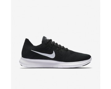 Nike Free RN Flyknit 2017 Womens Shoes Black/Black/Dark Grey/White Style: 880844-001