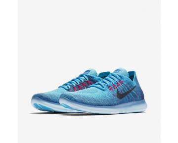 Nike Free RN Flyknit 2017 Womens Shoes Work Blue/Chlorine Blue/Blue Moon/Dark Obsidian Style: 880844-400