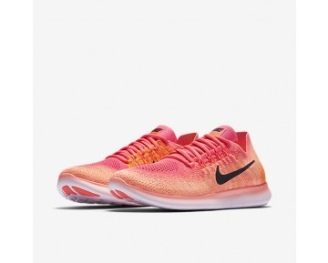 Nike Free RN Flyknit 2017 Womens Shoes Bright Mango/Racer Pink/Total Orange/Black Style: 880844-800