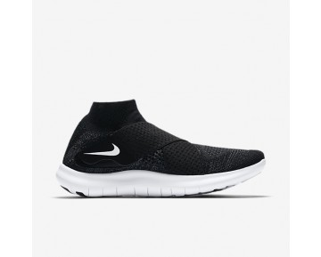 Nike Free RN Motion Flyknit 2017 Womens Shoes Black/Dark Grey/Volt/White Style: 880846-003