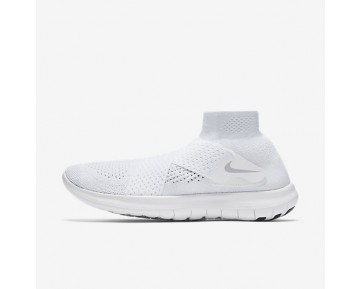 Nike Free RN Motion Flyknit 2017 Womens Shoes White/Pure Platinum/Volt/Wolf Grey Style: 880846-100