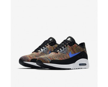 Nike Air Max 90 Ultra 2.0 Flyknit Womens Shoes Black/Cool Grey/White/Medium Blue Style: 881109-001