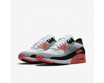 Nike Air Max 90 Ultra 2.0 Flyknit Womens Shoes White/Bright Crimson/Black/Wolf Grey Style: 881109-100