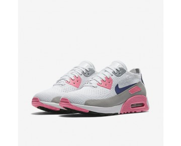 Nike Air Max 90 Ultra 2.0 Flyknit Womens Shoes White/Laser Pink/Black/Concord Style: 881109-101