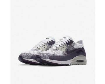 Nike Air Max 90 Ultra 2.0 Flyknit Womens Shoes White/Purple Dynasty/Light Bone/Dark Raisin Style: 881109-102