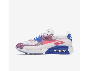 Nike Air Max 90 Ultra 2.0 Flyknit Womens Shoes White/Medium Blue/Bright Melon/Racer Pink Style: 881109-103