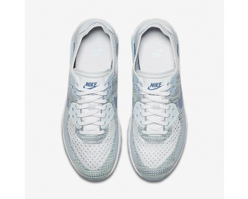 Nike Air Max 90 Ultra 2.0 Flyknit Womens Shoes White/Glacier Blue/Work Blue/Light Armoury Blue Style: 881109-105