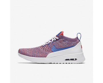Nike Air Max Thea Flyknit Womens Shoes Racer Pink/White/Polarised Blue/Medium Blue Style: 881175-100