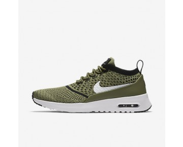 Nike Air Max Thea Flyknit Womens Shoes Palm Green/Black/White Style: 881175-300