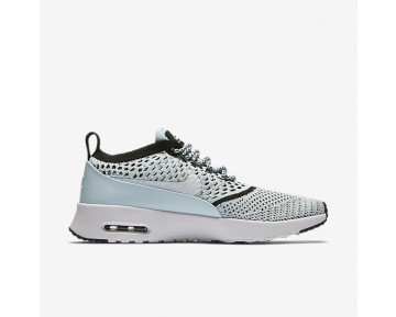Nike Air Max Thea Flyknit Womens Shoes Glacier Blue/Black/White Style: 881175-400