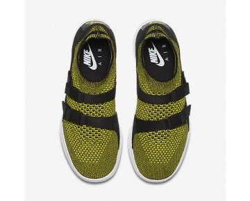 Nike Air Sock Racer Ultra Flyknit Womens Shoes Yellow Strike/Black/White Style: 896447-003
