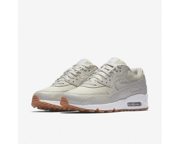 Nike Air Max 90 Premium Womens Shoes Light Bone/Gum Yellow/White/Light Bone Style: 896497-001