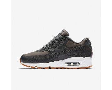 Nike Air Max 90 Premium Womens Shoes Dark Grey/Gum Yellow/White/Dark Grey Style: 896497-003