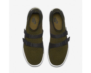 Nike Air Sock Racer Ultra Flyknit Mens Shoes Olive Flak/Black/White/Olive Flak Style: 898022-002