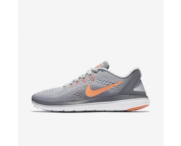 Nike Flex 2017 RN Womens Shoes Wolf Grey/Cool Grey/Bright Mango/Sunset Glow Style: 898476-003