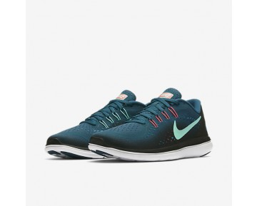 Nike Flex 2017 RN Womens Shoes Legion Blue/Black/Hot Punch/Green Glow Style: 898476-401