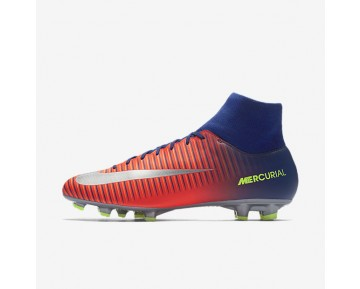 Nike Mercurial Victory VI Dynamic Fit FG Mens Shoes Deep Royal Blue/Total Crimson/Bright Citrus/Chrome Style: 903609-409