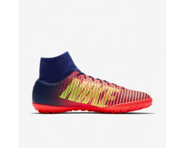 Nike MercurialX Victory VI TF Mens Shoes Deep Royal Blue/Total Crimson/Bright Citrus/Chrome Style: 903614-409
