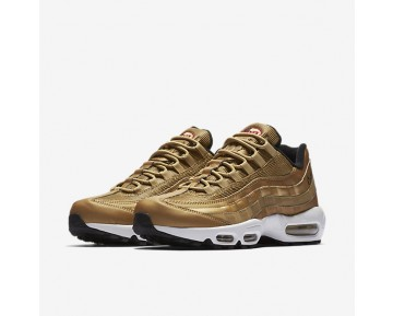 Nike Air Max 95 Premium QS Mens Shoes Metallic Gold/Black/White/Varsity Red Style: 918359-700