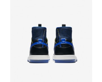 Nike Sb Dunk High Elite Qs Skateboarding Mens Shoes Black/Sail/Sonic Yellow/Racer Blue Style: 918287-041