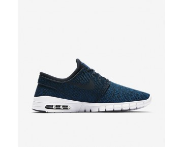 Nike Sb Stefan Janoski Max Skateboarding Mens Shoes Industrial Blue/Photo Blue/Light Armoury Blue/Obsidian Style: 631303-444