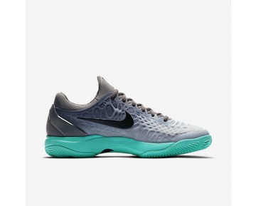 Nike Zoom Cage 3 Clay Tennis Mens Shoes Dark Grey/Green/Wolf Grey/Black Style: 918192-001