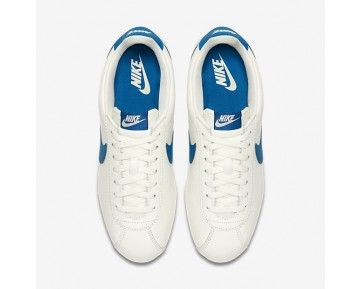 Nike Classic Cortez Leather Se Mens Shoes Sail/Blue Jay Style: 861535-102