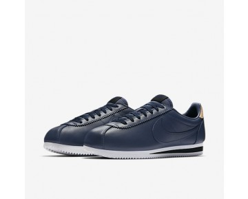 Nike Classic Cortez Leather Se Mens Shoes Midnight Navy/Black/Vachetta Tan/Midnight Navy Style: 861535-400