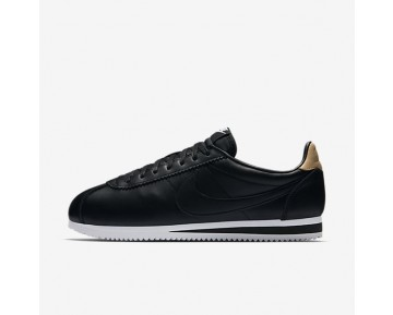 Nike Classic Cortez Leather Se Mens Shoes Black/White/Vachetta Tan/Black Style: 861535-004