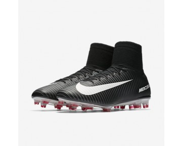 Nike Mercurial Veloce Iii Dynamic Fit Fg Firm-Ground Football Boot Mens Shoes Black/Dark Grey/University Red/White Style: 831961-002