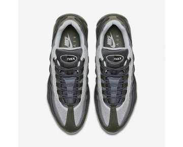 Nike Air Max 95 Essential Mens Shoes Cargo Khaki/Deep Pewter/Dark Grey/Pure Platinum Style: 749766-302