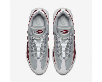 Nike Air Max 95 Essential Mens Shoes White/Pure Platinum/Team Red/Wolf Grey Style: 749766-103