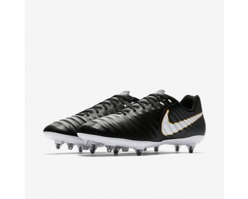 Nike Tiempo Ligera Iv Sg Soft-Ground Football Boot Mens Shoes Black/Black/White Style: 897745-002