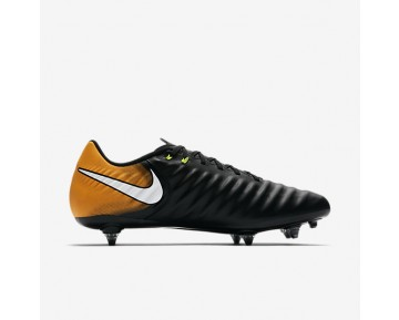 Nike Tiempo Ligera Iv Sg Soft-Ground Football Boot Mens Shoes Black/Laser Orange/Volt/White Style: 897745-008