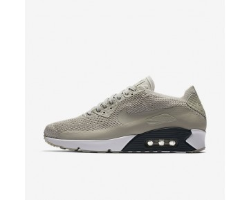 Nike Air Max 90 Ultra 2.0 Flyknit Mens Shoes Pale Grey/Armoury Navy/Glacier Ice/Pale Grey Style: 875943-006