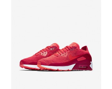Nike Air Max 90 Ultra 2.0 Flyknit Mens Shoes Bright Crimson/University Red/Max Orange/Bright Crimson Style: 875943-600