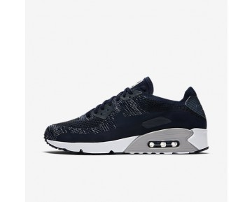 Nike Air Max 90 Ultra 2.0 Flyknit Mens Shoes College Navy/Wolf Grey/Wolf Grey/College Navy Style: 875943-401