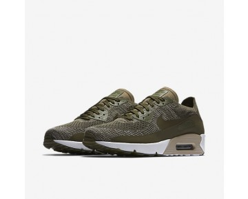 Nike Air Max 90 Ultra 2.0 Flyknit Mens Shoes Medium Olive/String/String/Medium Olive Style: 875943-200